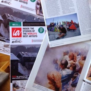 """International Artist Magazine. """"The language of Art"""". 8 pages spread. Issue 99. October/November. 2014."""