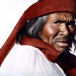 "Ritual, Acecho. Acuarela · Watercolor. 56 x 76 cms / 21"" x 28"""