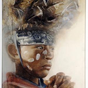 """Añoranza, Dignidad · Longing, Dignity. Acuarela · Watercolor.  53 x 35 cms / 21"""" x 14"""""""