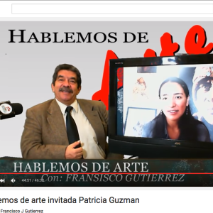 Entrevista de 46 mins en Hablemos de Arte Con Francisco Gutierrez. 46 mins interview at Hablemos de Arte con Francisco Gutierrez. www.youtube.com/watch?v=w7IZ7MT69I4&feature=youtu.be