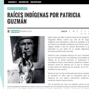 Raíces Indígenas por Patricia Guzmán. Zeltzin Reyna. http://danludens.com/ludens/raices-indigenas-por-patricia-guzman/