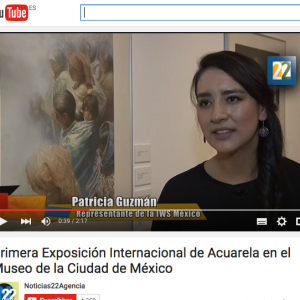 Primera Exposición Internacional de Acuarela en el Museo de la Ciudad de México. https://www.youtube.com/watch?v=xChPMwdRnTQ