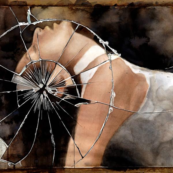 """Distorsión del Ser · Self's Distortion. Acuarela · Watercolor. 56 x 76 cms / 21"""" x 28"""""""