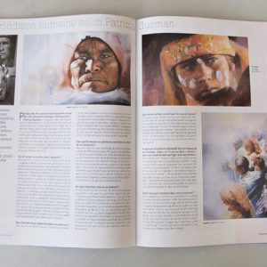 Lauren Benoist. La condition humaine, selon Patricia Guzman. Pratique des Arts Hors-série n°42 - Spécial Aquarelle et Mixed media. Four page article. 2016.