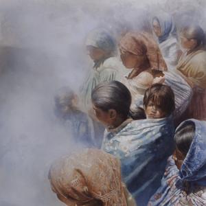 """Olvidados · Forgotten. Watercolor. 76 x 56 cms / 28"""" x 21"""""""