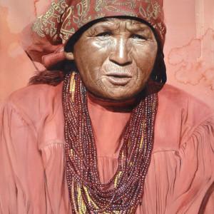 """Sukurúame (Chamán en lenguaje Rarámuri). Shaman. Acuarela · Watercolor.  76 x 56 cms · 28"""" x 21"""""""