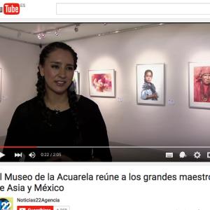 Canal 22, Entrevista.  Encuentro Internacional de Acuarela Asia - México, Grandes Maestros. https://youtu.be/Y9XBX8qWv0I