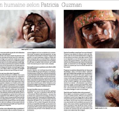 Lauren Benoist. La condition humaine, selon Patricia Guzman. Pratique des Arts Hors-série n°42 - Spécial Aquarelle et Mixed media. 2016.